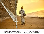 in the solar photovoltaic... | Shutterstock . vector #701297389