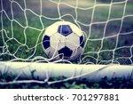 classic vintage soccer ball in... | Shutterstock . vector #701297881