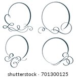 set of decorative frame and... | Shutterstock .eps vector #701300125