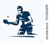 table tennis player stylized... | Shutterstock .eps vector #701302609