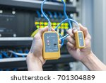 equipment. tester cable lan in... | Shutterstock . vector #701304889