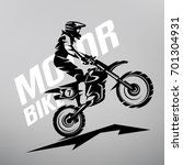 motocross stylized vector... | Shutterstock .eps vector #701304931