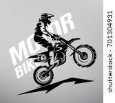 motocross stylized vector...   Shutterstock .eps vector #701304931