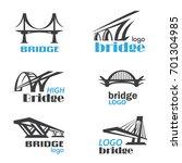 bridge symbol logo template... | Shutterstock .eps vector #701304985