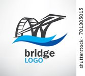 bridge symbol logo template | Shutterstock .eps vector #701305015