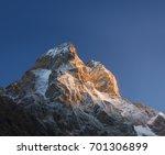 mountain top at sunrise. mount... | Shutterstock . vector #701306899