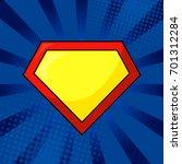 superhero yellow and red logo... | Shutterstock .eps vector #701312284