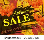 sign autumn sale. background... | Shutterstock .eps vector #701312431
