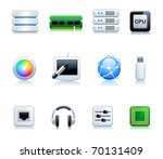 computer icon set | Shutterstock .eps vector #70131409