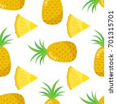 seamless pattern of pineapple ... | Shutterstock .eps vector #701315701