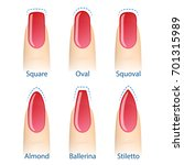 nail manicure  set of nails... | Shutterstock .eps vector #701315989