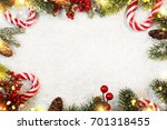 holiday christmas background  | Shutterstock . vector #701318455