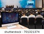 computer set showing the... | Shutterstock . vector #701321374