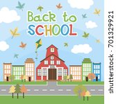 back to school poster with... | Shutterstock .eps vector #701329921