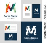 editable business card template ... | Shutterstock .eps vector #701331661