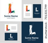 editable business card template ... | Shutterstock .eps vector #701331799