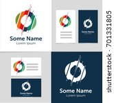 editable business card template ... | Shutterstock .eps vector #701331805