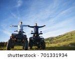 beautiful couple is watching... | Shutterstock . vector #701331934
