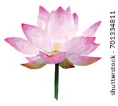 low poly lotus  pink water lily ... | Shutterstock .eps vector #701334811