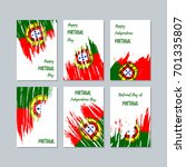 portugal patriotic cards for...   Shutterstock .eps vector #701335807
