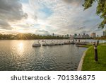 pond in public park  bangkok ...   Shutterstock . vector #701336875