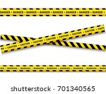 vector yellow black police tape ... | Shutterstock .eps vector #701340565