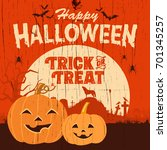 halloween sign  illustration of ... | Shutterstock .eps vector #701345257