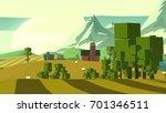 cartoon countryside. | Shutterstock . vector #701346511