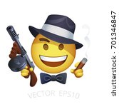 vector retro american gangster... | Shutterstock .eps vector #701346847