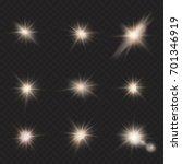 flares  rays  beams set  sun... | Shutterstock .eps vector #701346919