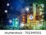 smart factory concept. internet ... | Shutterstock . vector #701349331