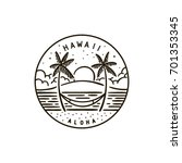 vintage vector round label.... | Shutterstock .eps vector #701353345