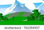 cartoon countryside. | Shutterstock . vector #701354557