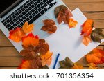 Overhead View Of Autumn Leaves...