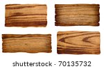 collection of wooden signs on... | Shutterstock . vector #70135732