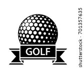 golf ball black ribbon simple...   Shutterstock .eps vector #701357635