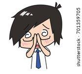 cartoon character businessman... | Shutterstock .eps vector #701359705