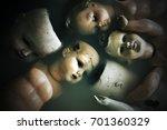 creepy dolls    Shutterstock . vector #701360329