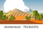 cartoon countryside stylized... | Shutterstock . vector #701362351