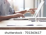 business people on the desk...   Shutterstock . vector #701363617