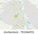 vector map new delhi  india.... | Shutterstock .eps vector #701366551
