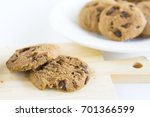 chocolate chip cookies on... | Shutterstock . vector #701366599