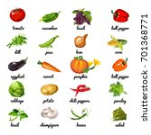 cute poster on topic of healthy ... | Shutterstock .eps vector #701368771