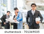 group of engineer  business man ... | Shutterstock . vector #701369035