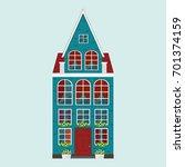 old european house | Shutterstock .eps vector #701374159