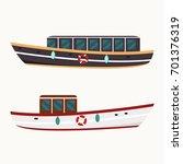 boats vector illustration. | Shutterstock .eps vector #701376319