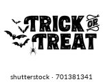 Trick or Treat Text Banner, Vector