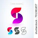 logo letter s template....   Shutterstock .eps vector #701381857