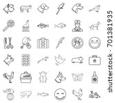 carry icons set. outline style... | Shutterstock .eps vector #701381935