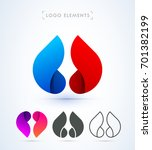 vector abstract logo elements....